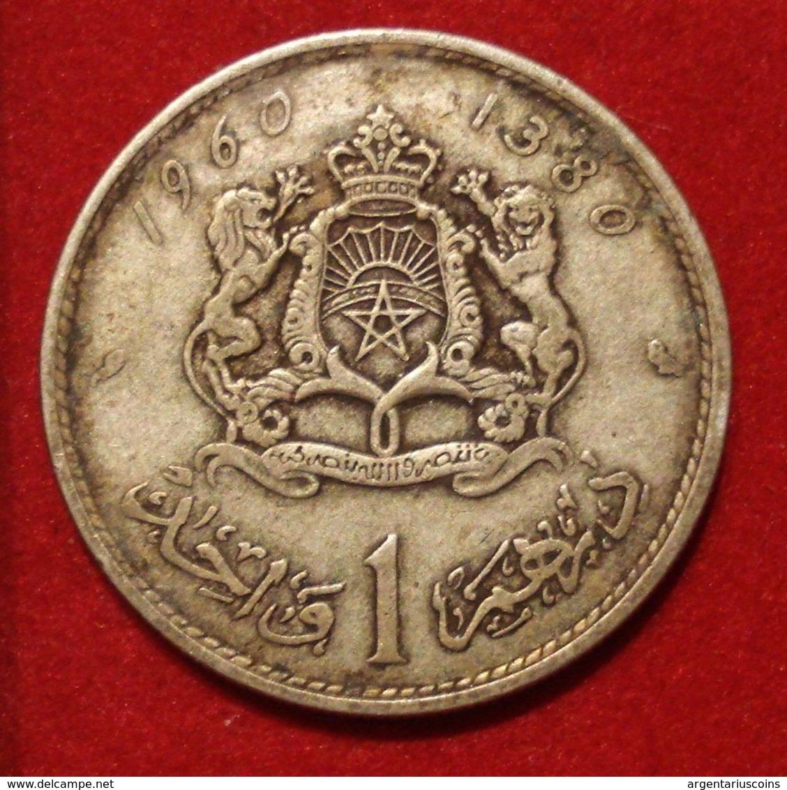 MAROC. 1 DIRHAM 1960. ARGENT.  SILVER. MOROCCO. - Maroc