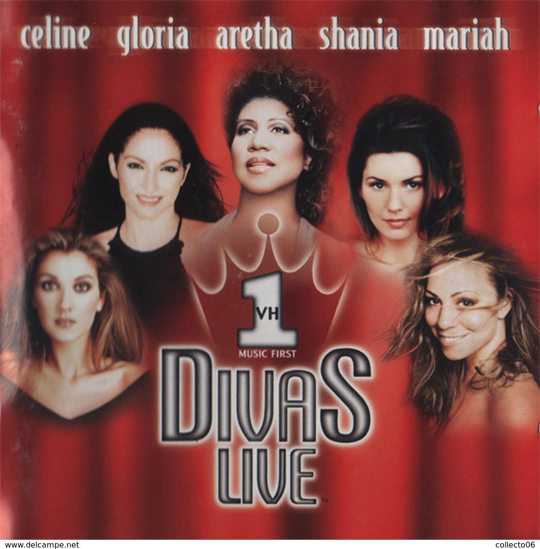 CD Divas Live Celine Dion Mariah Shania Aretha Gloria - Musik & Instrumente