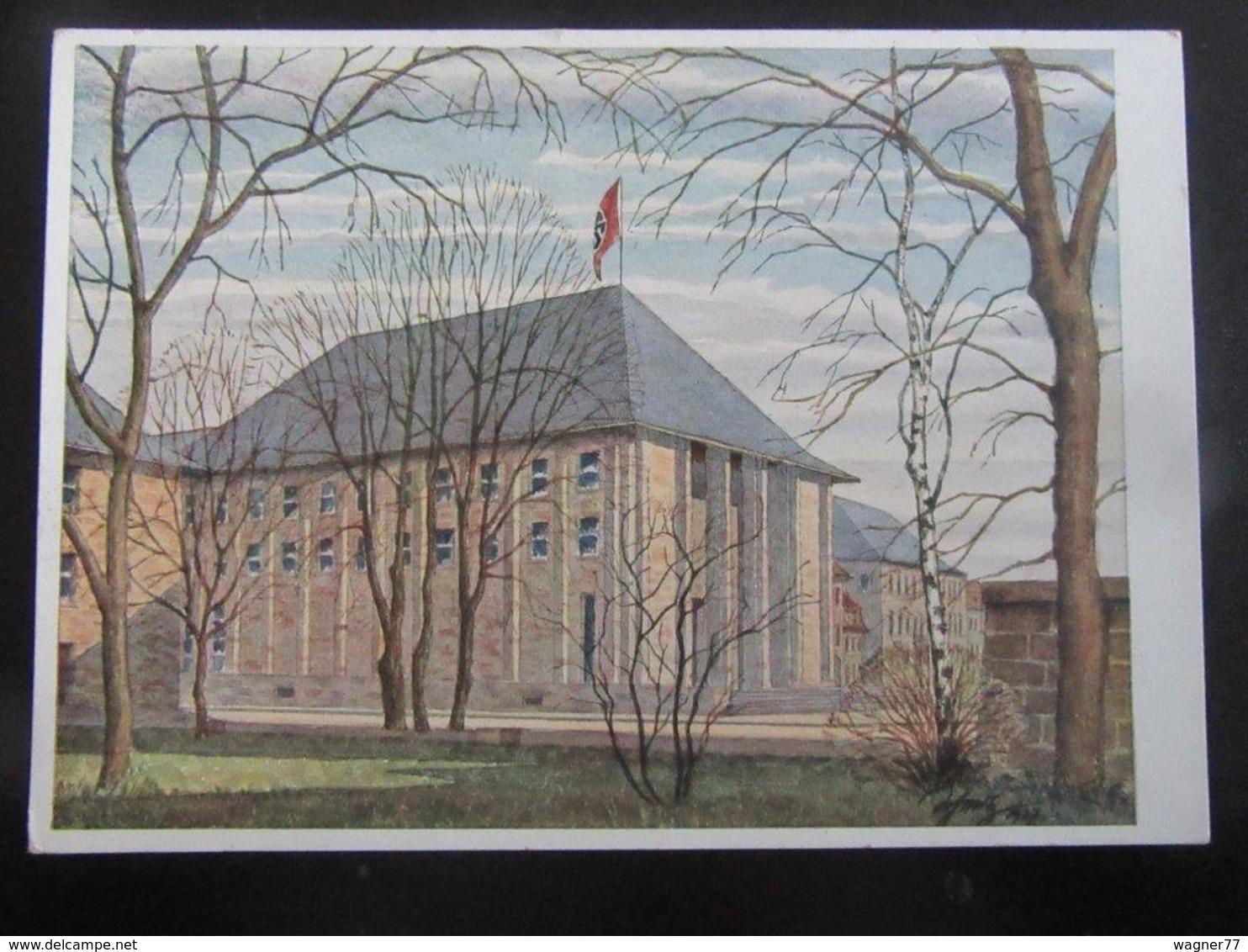 Postkarte Haus Der Deutschen Erziehung Bayreuth - Briefe U. Dokumente