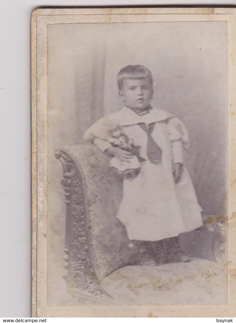 K15  -  CABINET  PHOTO,  CDV  -  CZECH, ZNAIM  ~   GIRL ~   PHOTOGRAPH   GEORG FISCHER  ~  10,5 X  6,5 - Alte (vor 1900)
