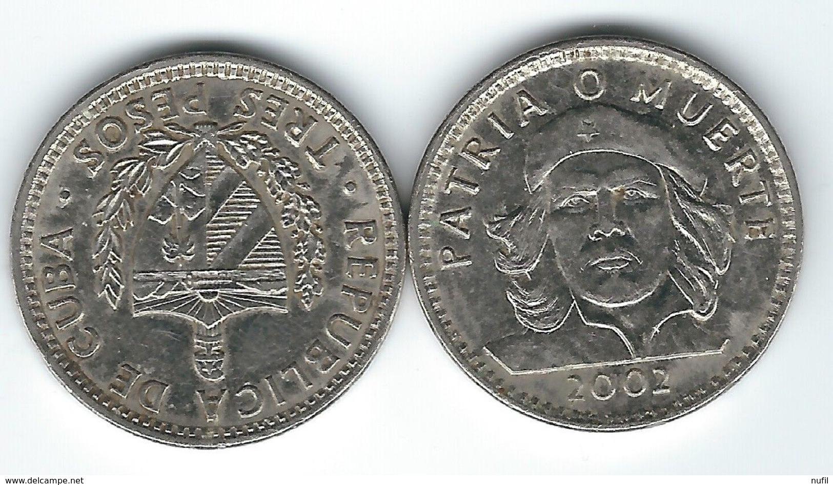CUBA  3 Pesos 1990, 1992, 1995 Y 2002 - Cuba