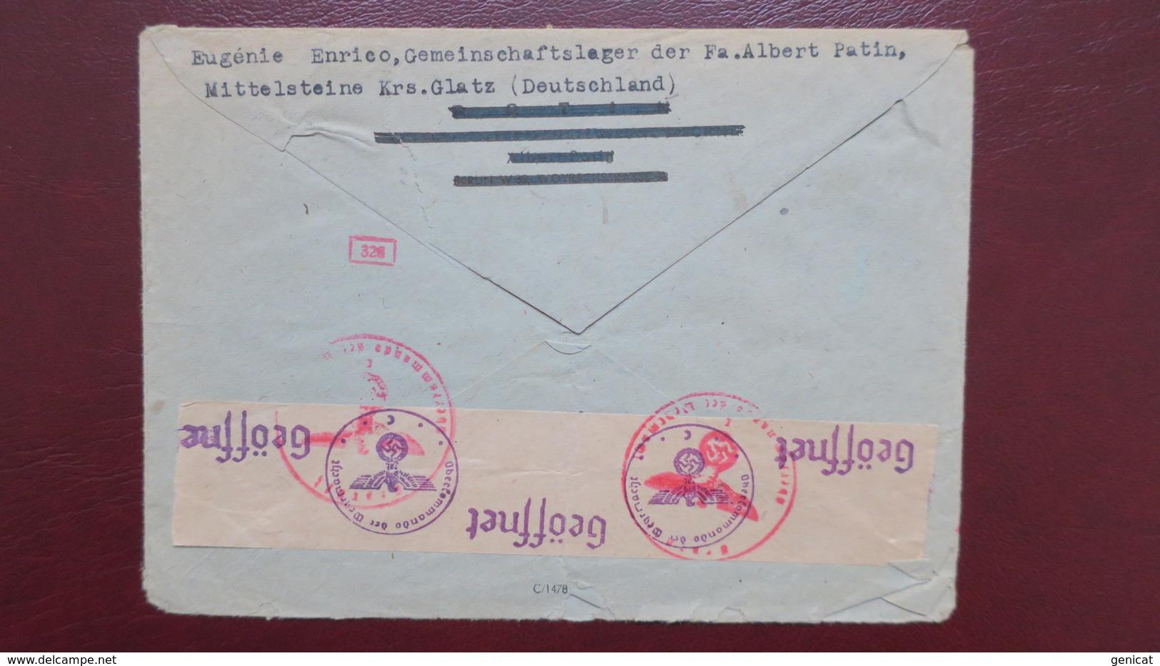 1944 Lettre Du Camp De Concentration De Mittelsteine Femme Travaillant A L'usine Albert Patin (composants V-1 & V-2 ) - Guerre De 1939-45