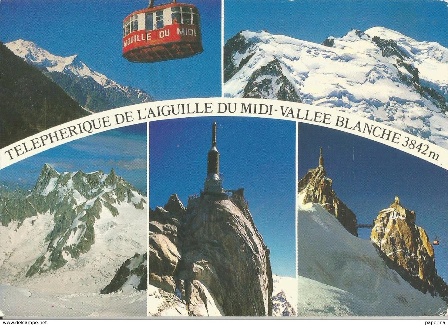TELEPHERIQUE DE L'AIGUILLE DU MIDI  (45) - Cartoline