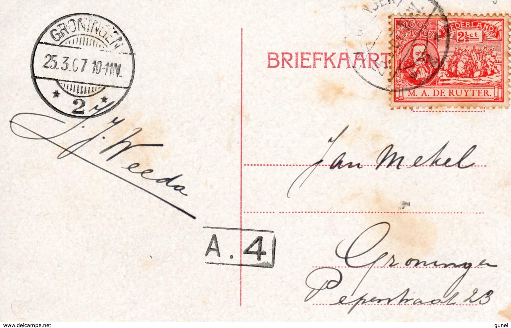 25.3. 07 Ansicht Met Enkelfrankering NVPH89  Van Vlissingen Naar Groningen - Periode 1891-1948 (Wilhelmina)