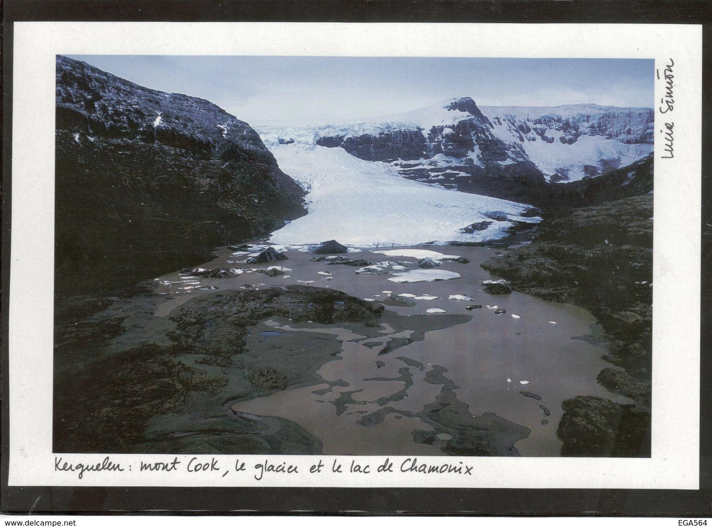A 4 - KERGUELEN - MONT COOK - LE GLACIER - LE LAC DE CHAMONIX( Lucia Simion ) Dimensions - Size - En Mm 140x207 - - TAAF : Terres Australes Antarctiques Françaises
