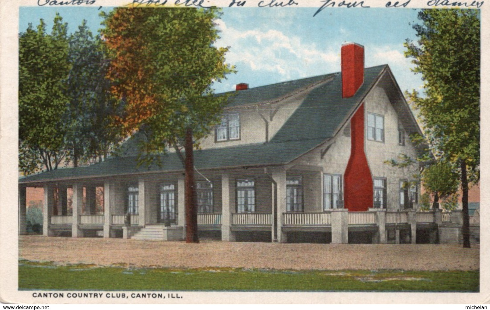 CPA   CHINE---CANTON COUNTRY CLUB---1920 - Chine