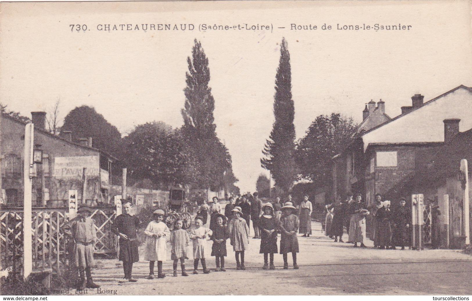 CPA 71 @ CHATEAURENAUD - Route De LONS Le Saunier - Groupe D'enfants Au Passage à Niveau Près Louhans - Autres Communes