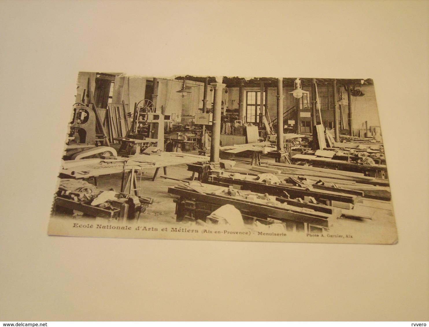 ECOLE NATIONNAL D ARTS ET METIERS AIX EN PROVENCE MENUISERIE  1917 - Cartes Postales