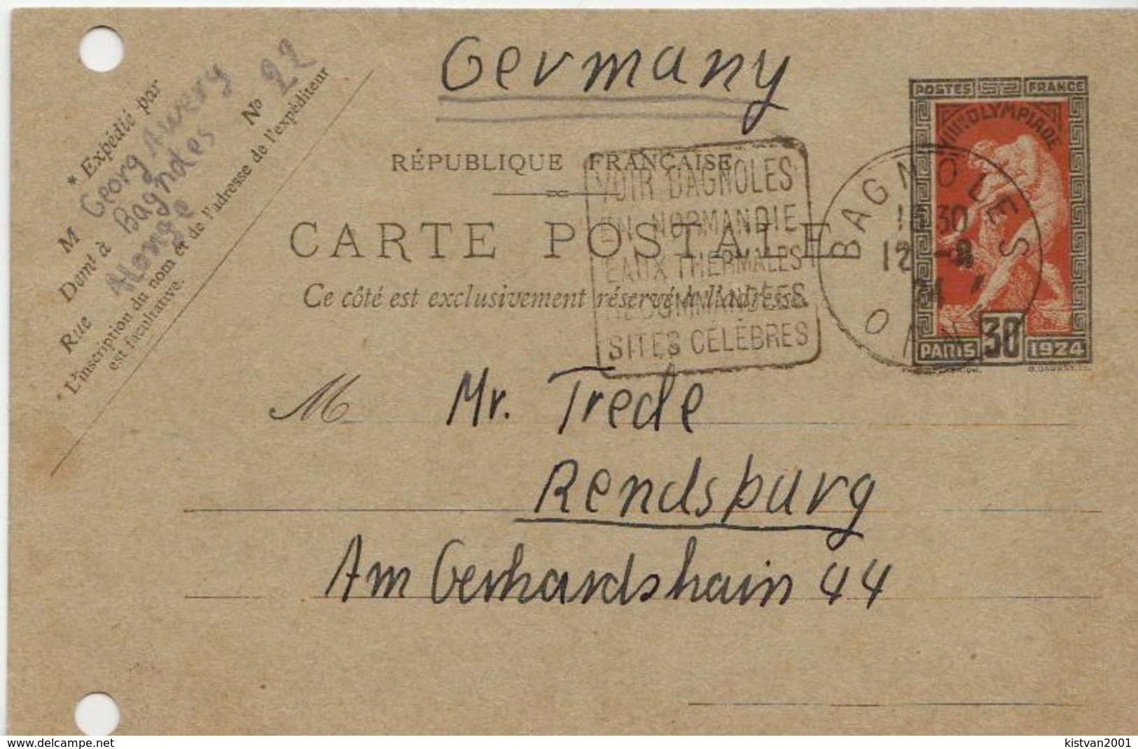 Postal History: France Used Postal Stationary ( Entier Postal, Ganzsache) From 1924 - Postal Stationery