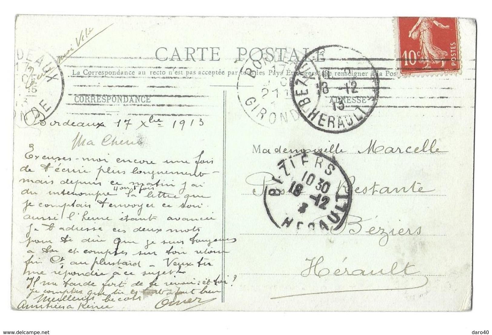 CPA Automobiles Motobloc  Bordeaux  Essais Des Moteurs Au Banc 1913 Aminé TTB - Bordeaux