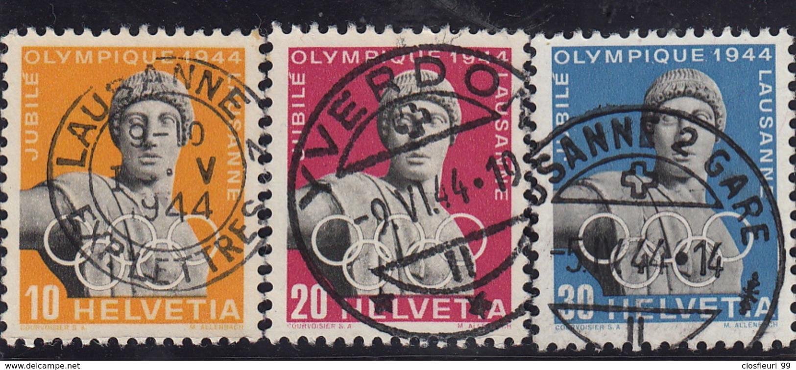 50è Du Conseil International Olympique / Série 259x-261x Mi.428y-430y -o - 1843-1852 Federal & Cantonal Stamps