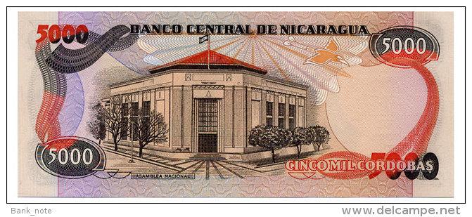 NICARAGUA 5000 CORDOBAS 1985 Pick 146 Unc - Nicaragua