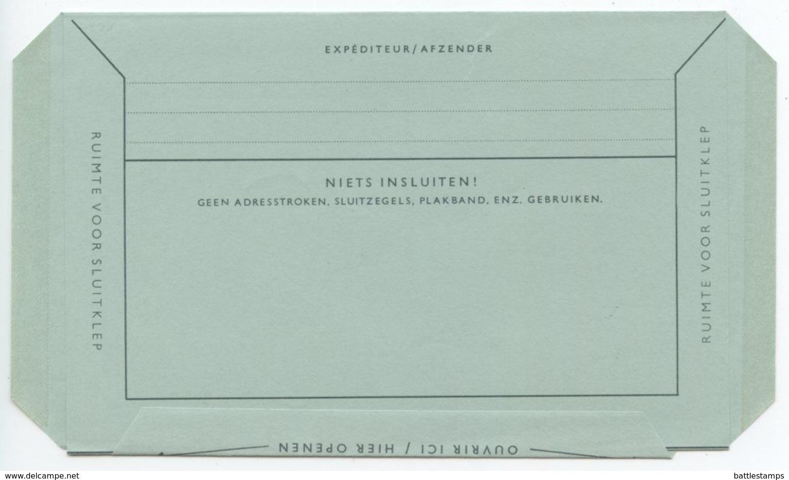 Netherlands 1981 80c. Queen Juliana Aerogramme Philatelia '81 In Frankfurt - Postal Stationery
