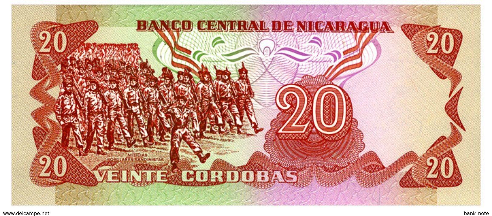 NICARAGUA 20 CORDOBAS 1979 Pick 135 Unc - Nicaragua
