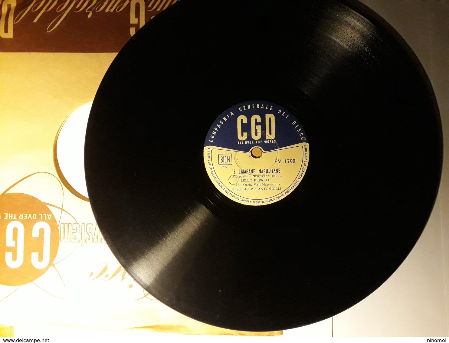 CGD  -  1952.  Serie  PV  Nr. 1790.   Lello Perrelli - 78 G - Dischi Per Fonografi