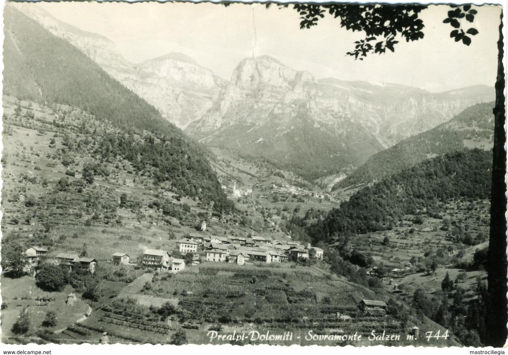 SALZEN  SOVRAMONTE  BELLUNO  Panorama  Prealpi -Dolomiti  Cachet Locanda Pavione Aune - Belluno