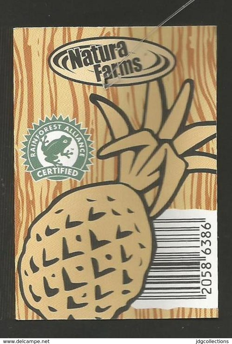 # PINEAPPLE NATURA FARMS Size 7, Fruit Tag Balise Etiqueta Anhanger Ananas Pina Costa Rica - Fruits & Vegetables