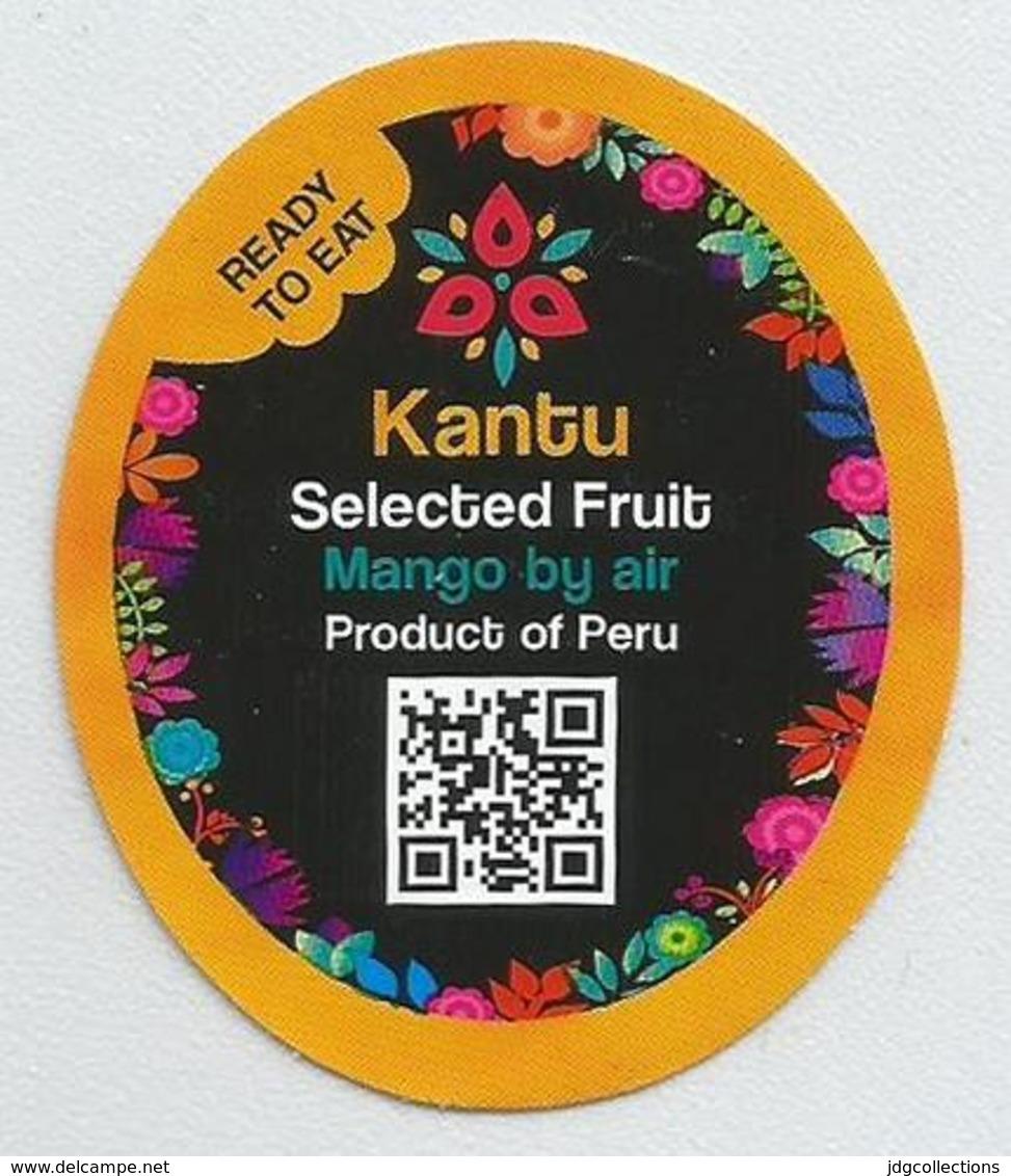 # MANGO KANTU By Air Fruit Sticker Label Etichette Etiquettes Etiquetas Adhesive Aufkleber Fruta Frucht Peru - Fruits & Vegetables