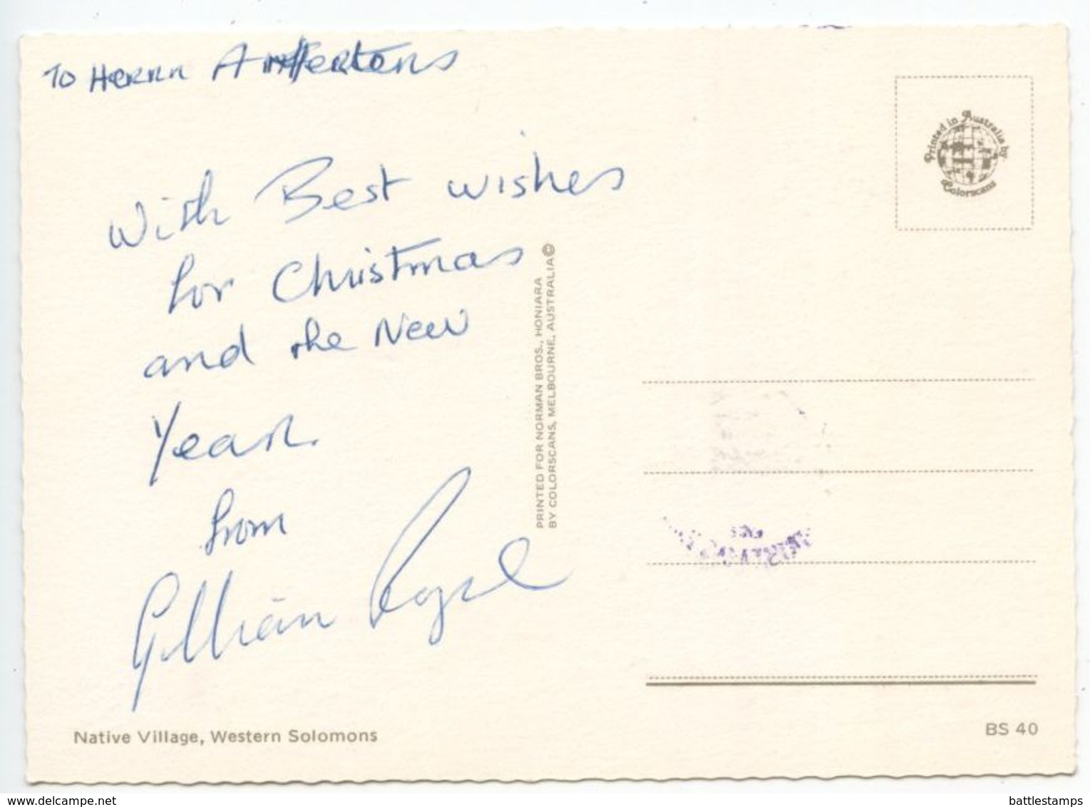 Solomon Islands 1981 FDC Postcard Scott 459 Christmas - Church - Solomon Islands (1978-...)