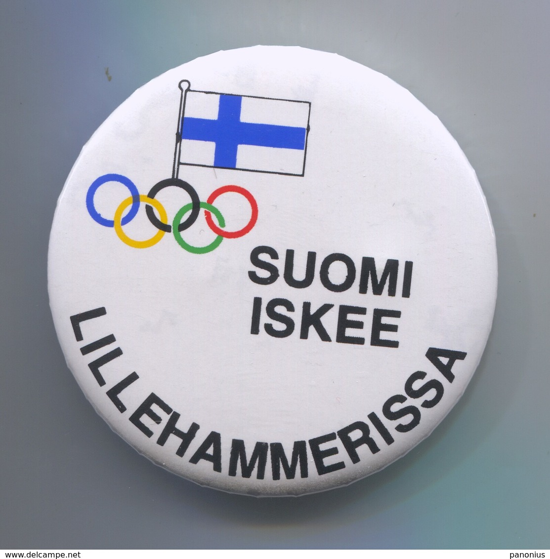 OLYMPIC OLYMPIADE - Finland Suomi Committee, Pin, Badge, Abzeichen, Brooch, D 60 Mm - Habillement, Souvenirs & Autres