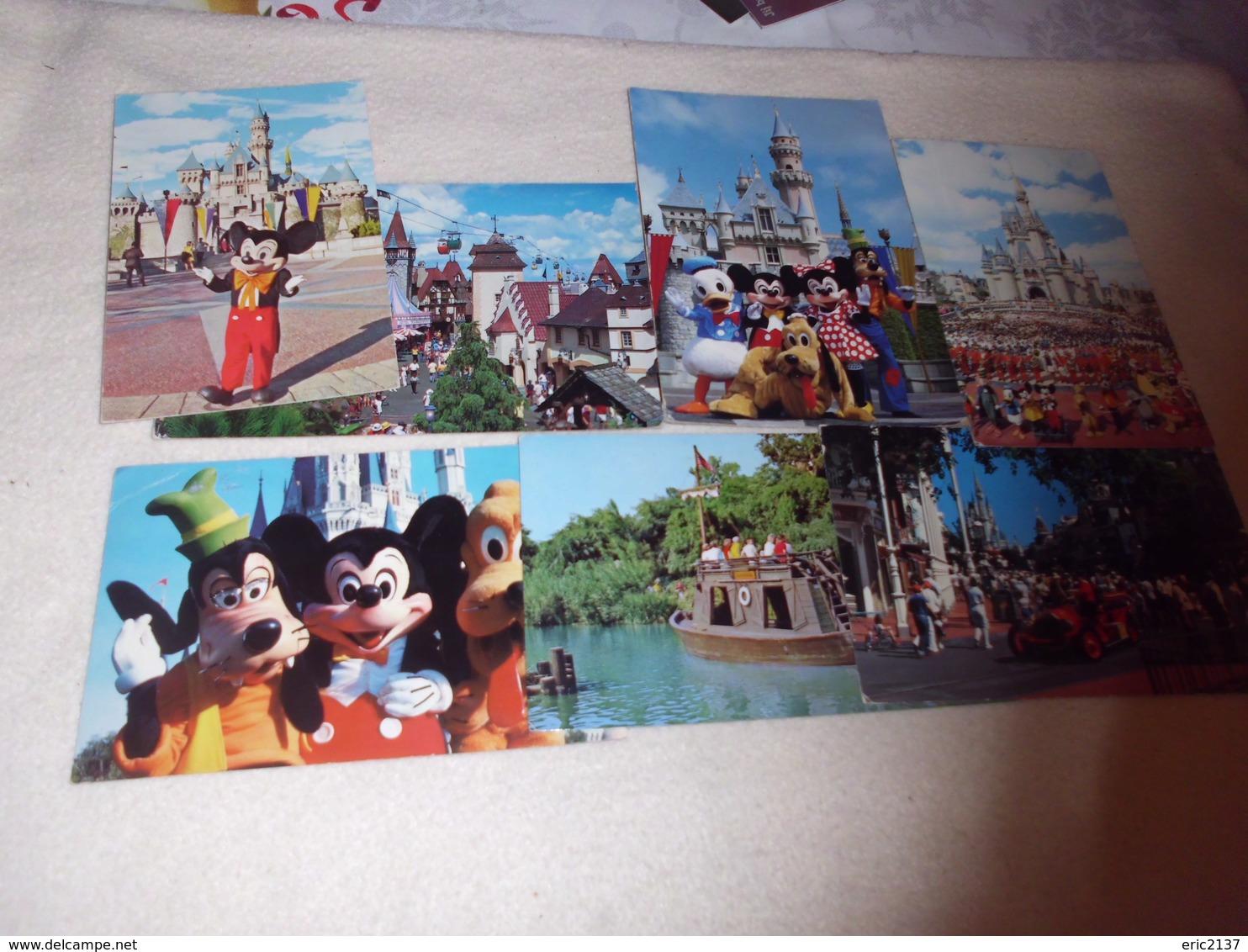 LOT DE 7 CARTES  ..DISNEYLAND .... - Disneyland