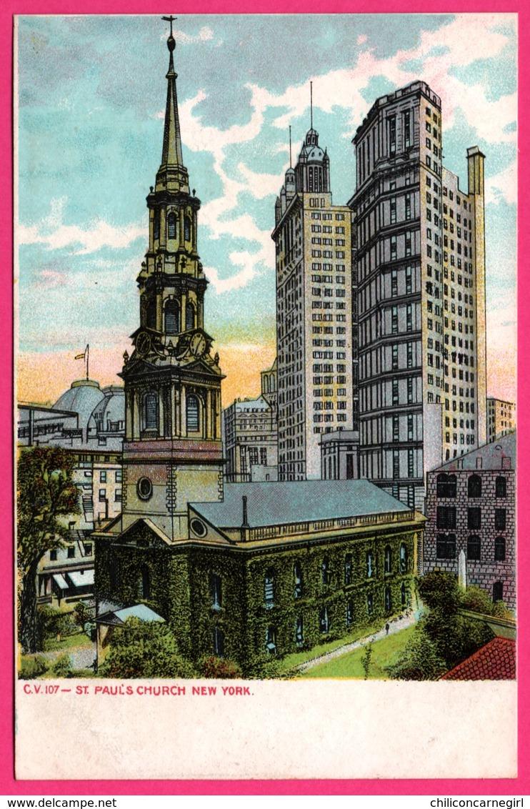 New York - St Paul Church - Eglise - C.V. 107 - Églises