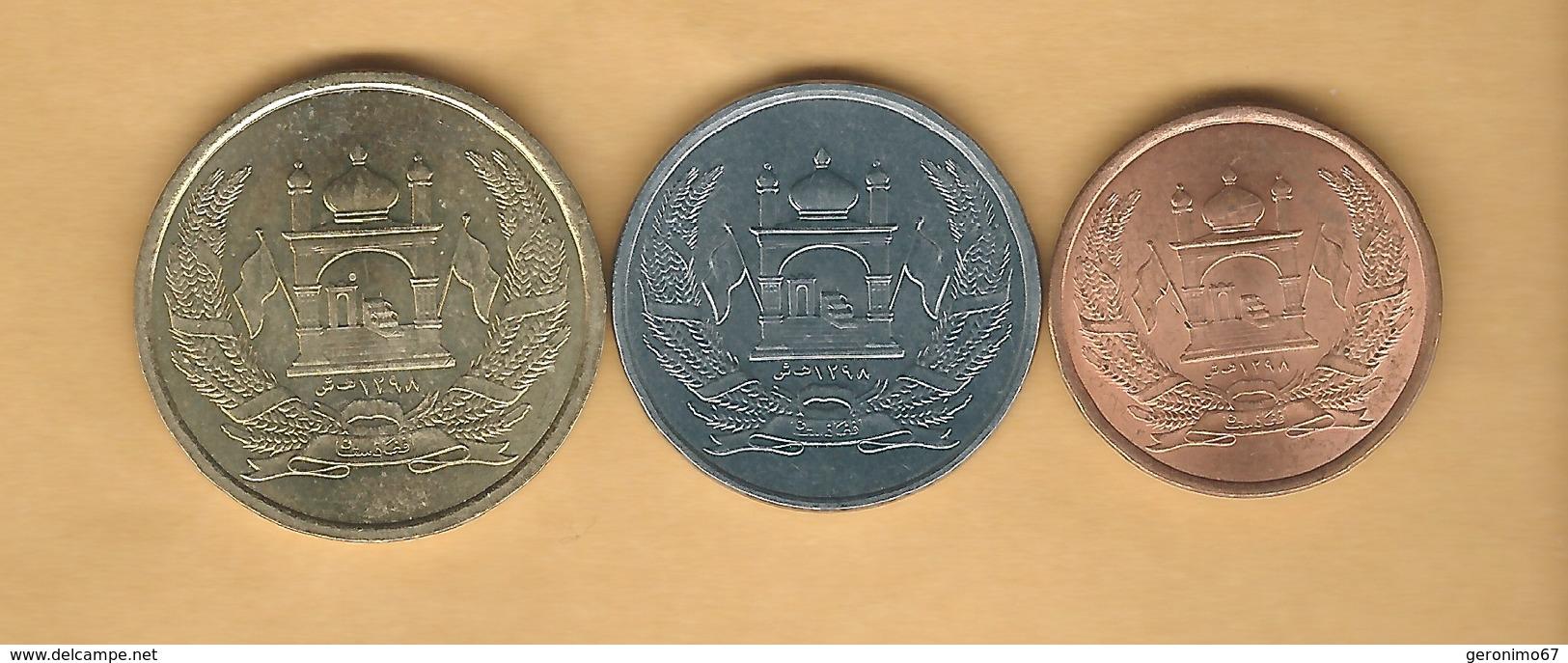 Afghanistan - Islamic Republic X 3; 1, 2  5 Afghani - 2004 (KMs 1044-1046) - Afghanistan