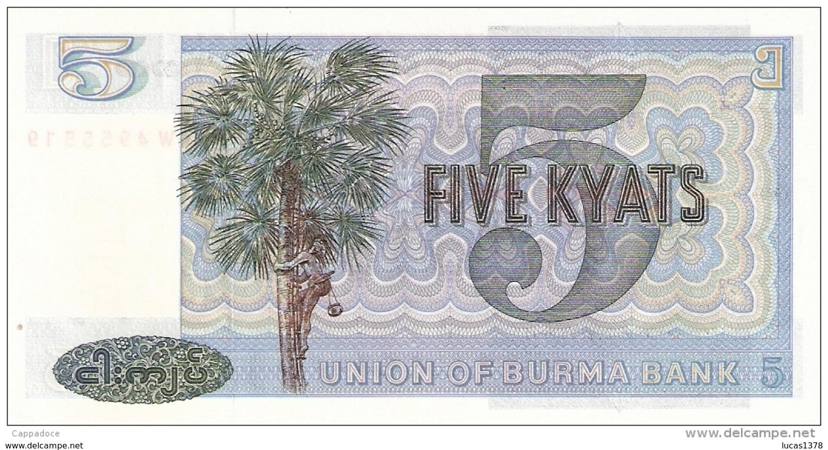 BURMA 5 KYATS / NEUF - Myanmar