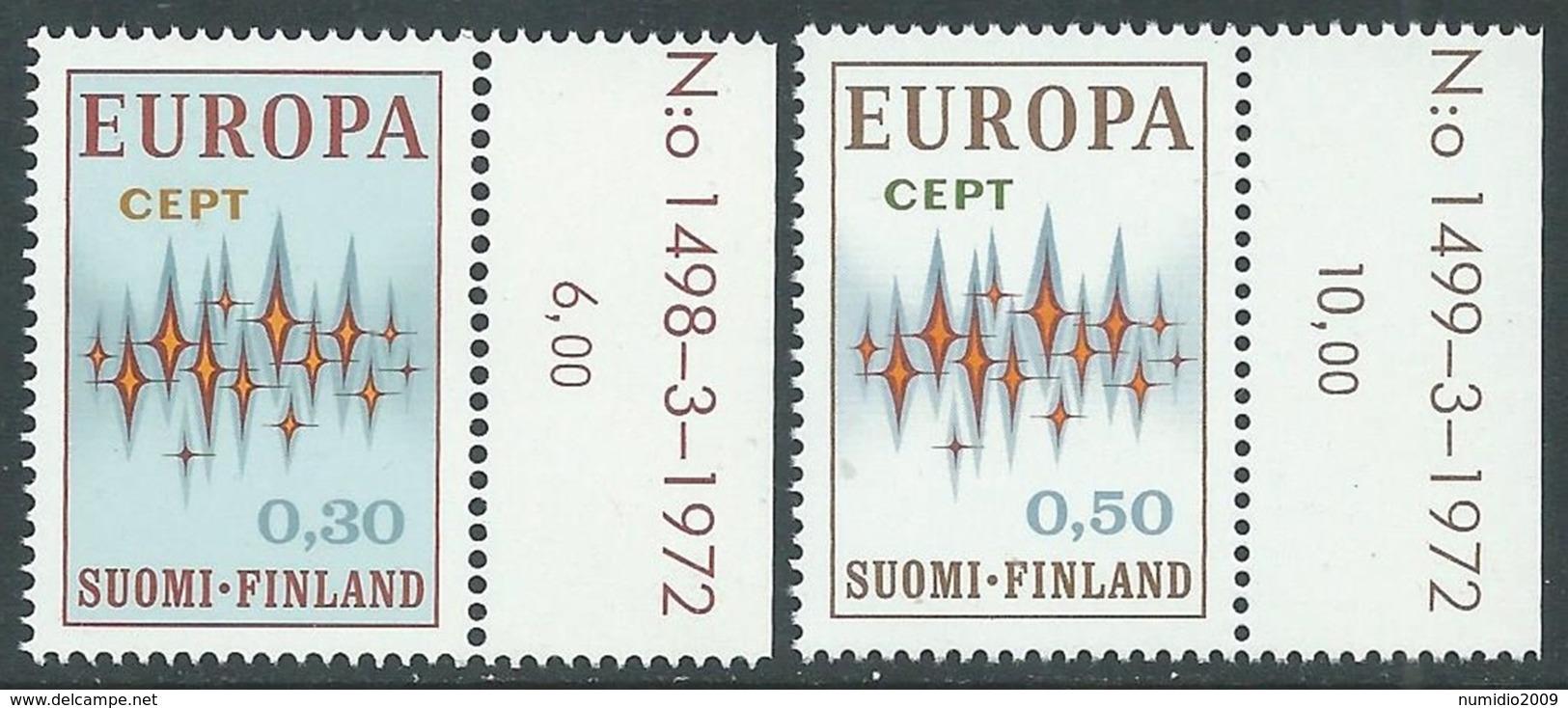 1972 EUROPA UNITA CEPT FINLANDIA MNH ** - F10-10 - Europa-CEPT