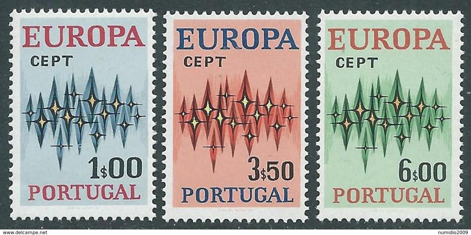 1972 EUROPA UNITA CEPT PORTOGALLO MNH ** - F11-3 - 1972