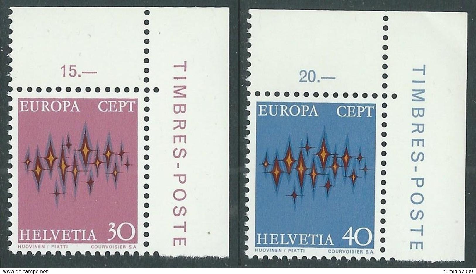 1972 EUROPA UNITA CEPT SVIZZERA MNH ** - F11-3 - Europa-CEPT