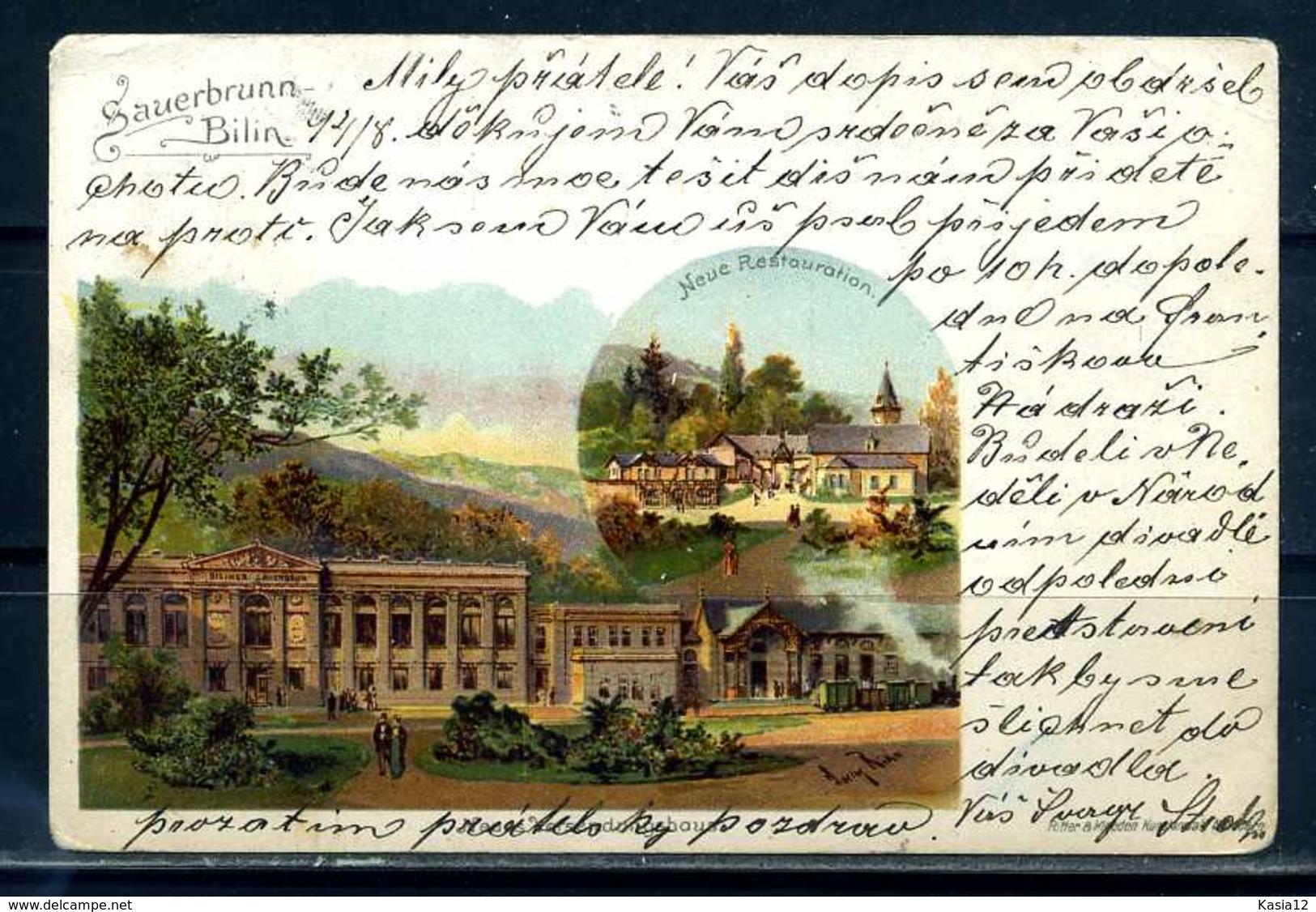 K10007)Ansichtskarte: Bilin - Böhmen Und Mähren