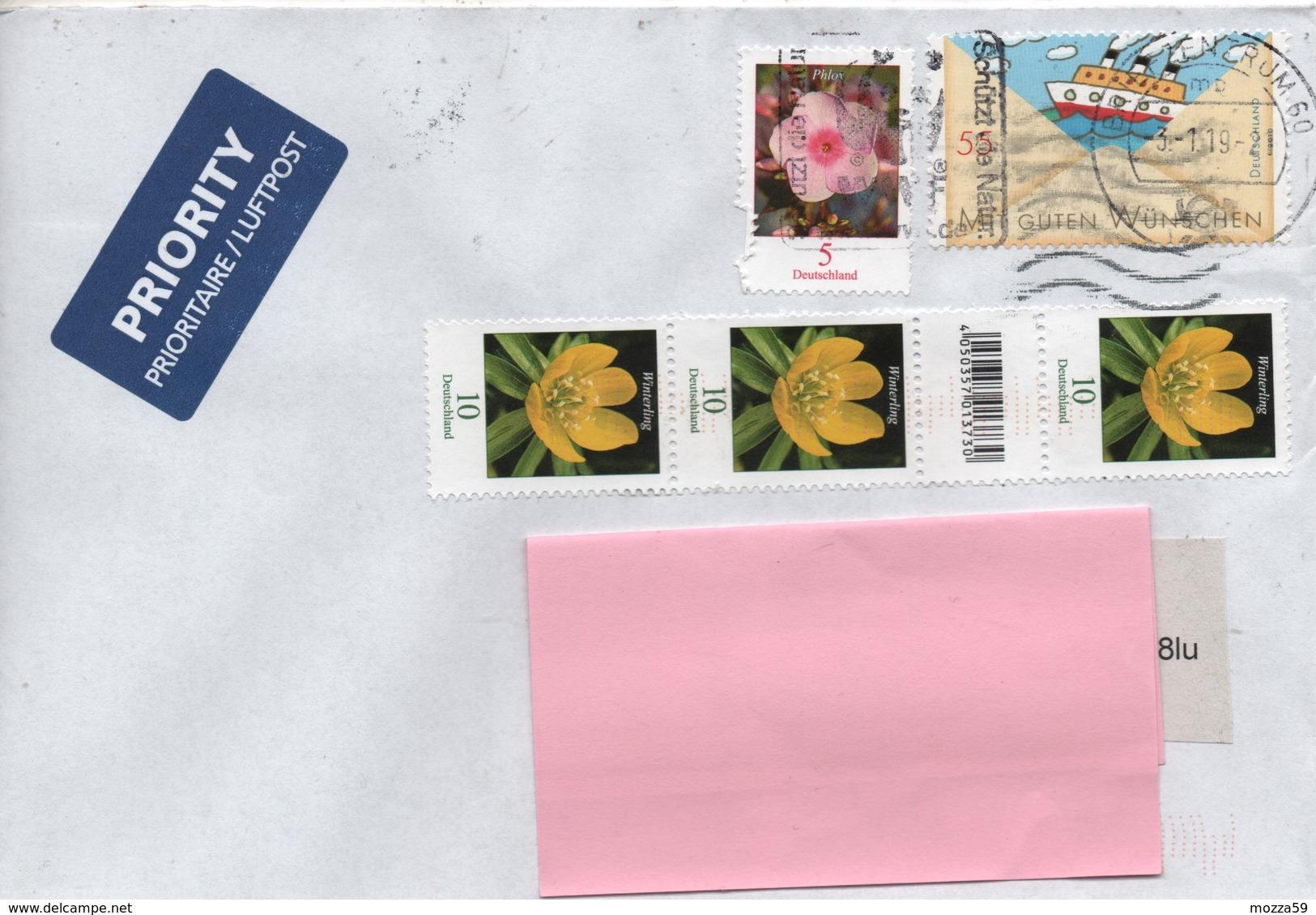 "Germany  2019 Frankfurt,  Letter To U.K. Ship Stamp ""World Wildlife Fund"" Postmark- Interesting - BRD"