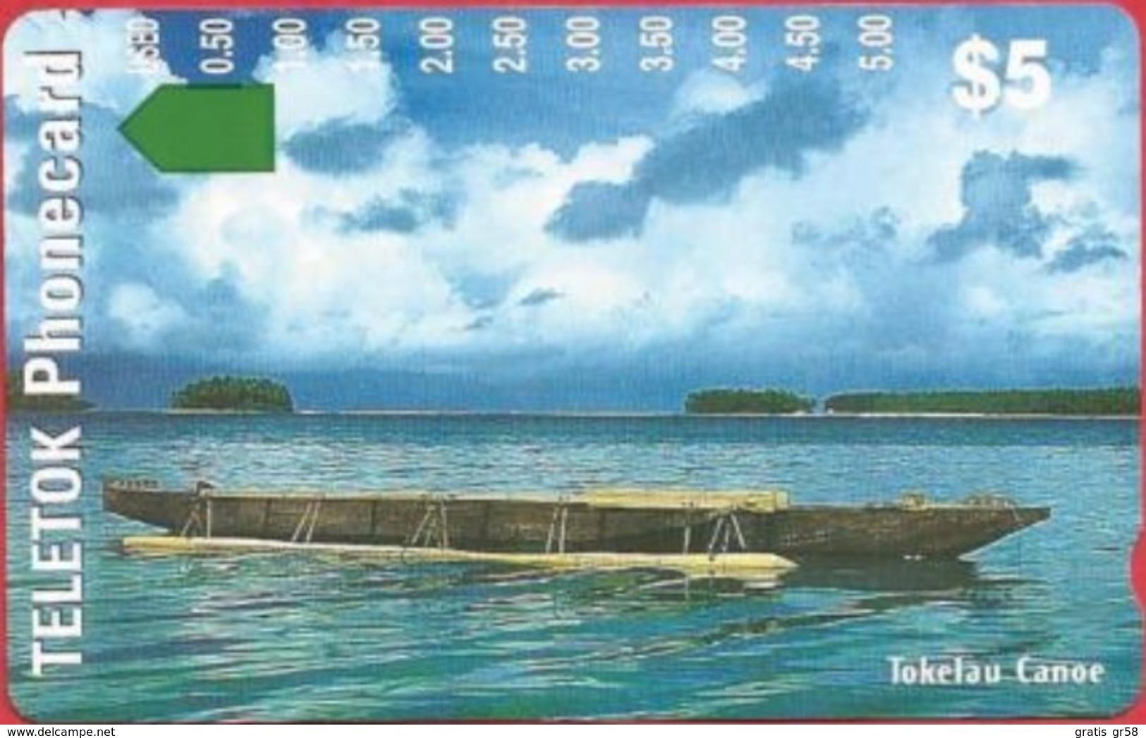 Tokelau - TK-TEL-0001, Anritsu, Trial Issue, Tokelau Canoe, 12/97, 5000ex, Mint - Andere - Oceanië