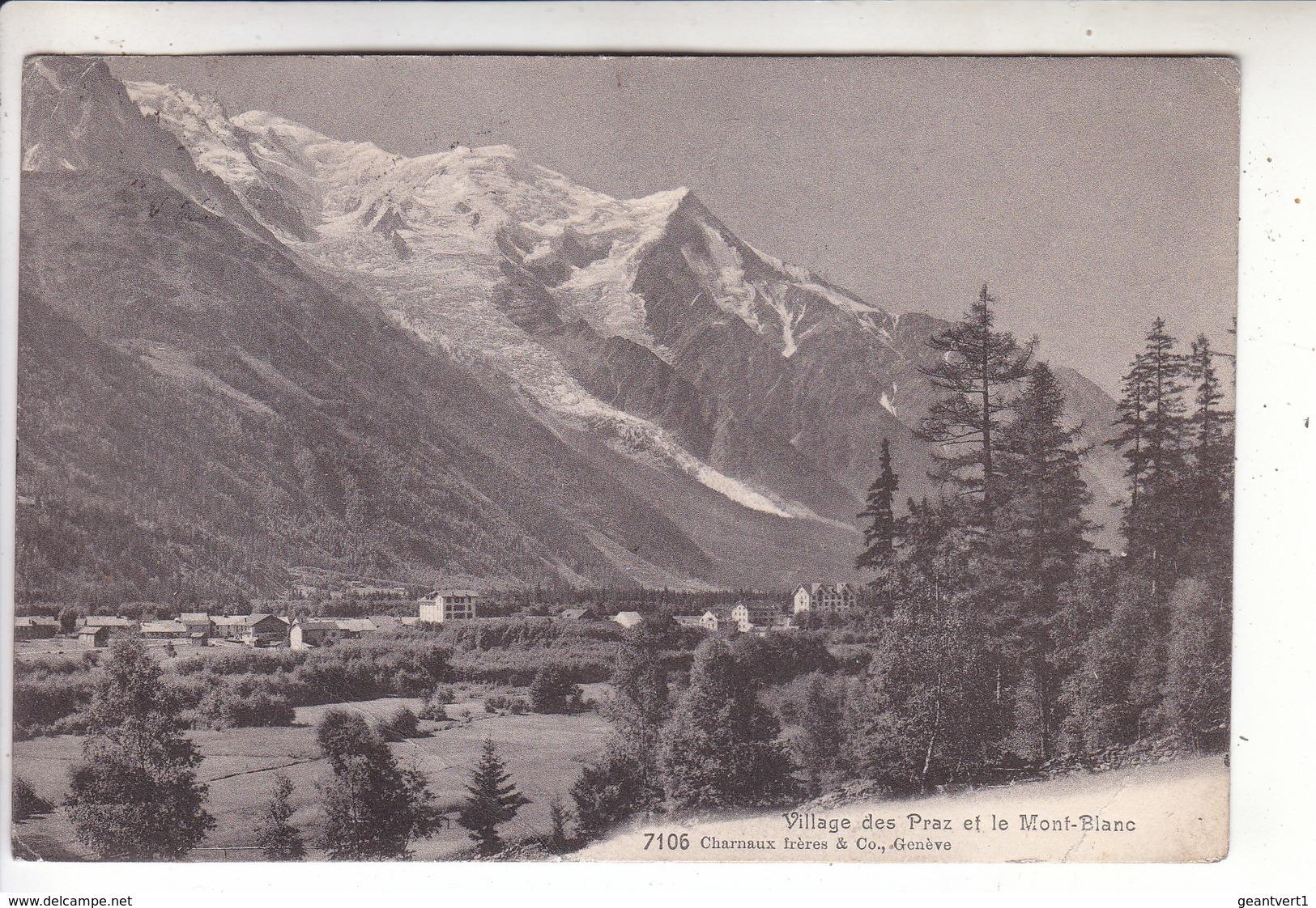 Sp- 74 - Village Des PRAZ Et Le Mont Blanc - Timbre - Cachet - 1917 - France