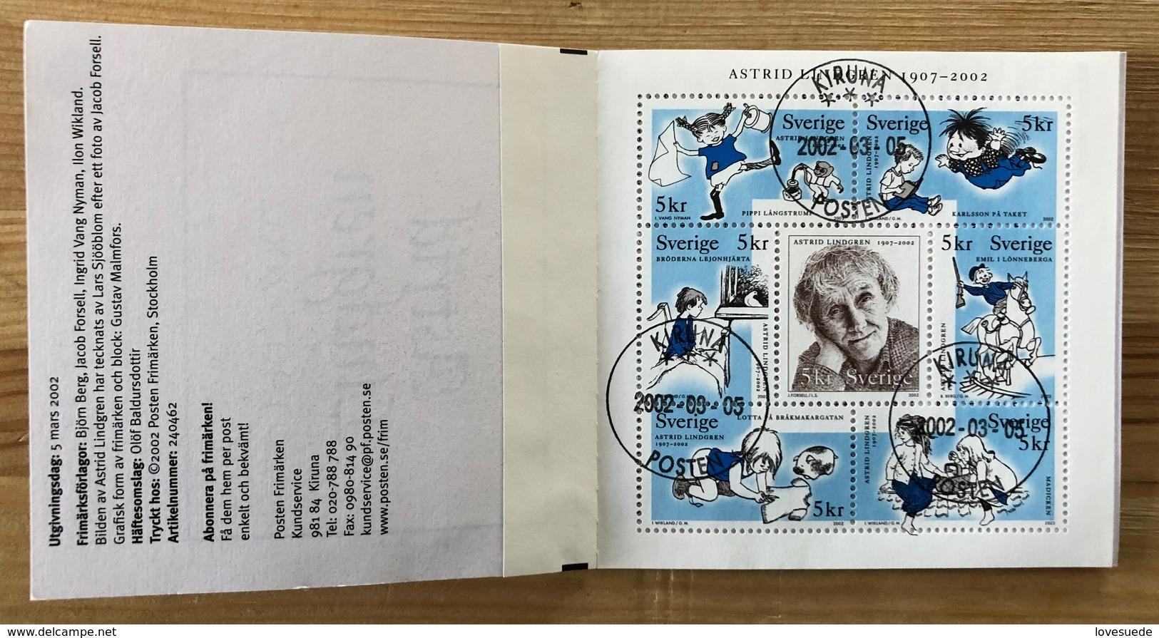 Carnet Suède 2002 Oblitéré - Carnets