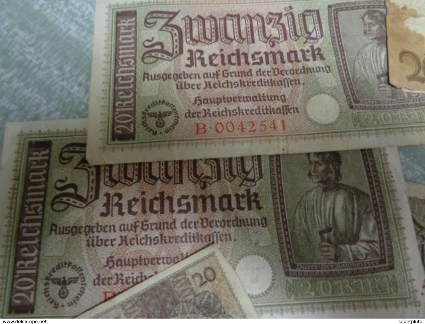 Reichsmark Photos Courrier Et Billet Vieux Papiers - [ 4] 1933-1945 : Terzo  Reich
