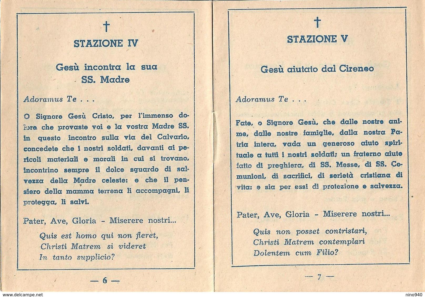 VIA CRUCIS PER LA PATRIA E PER I SOLDATI - Opuscoletto Per Militari - Religione & Esoterismo