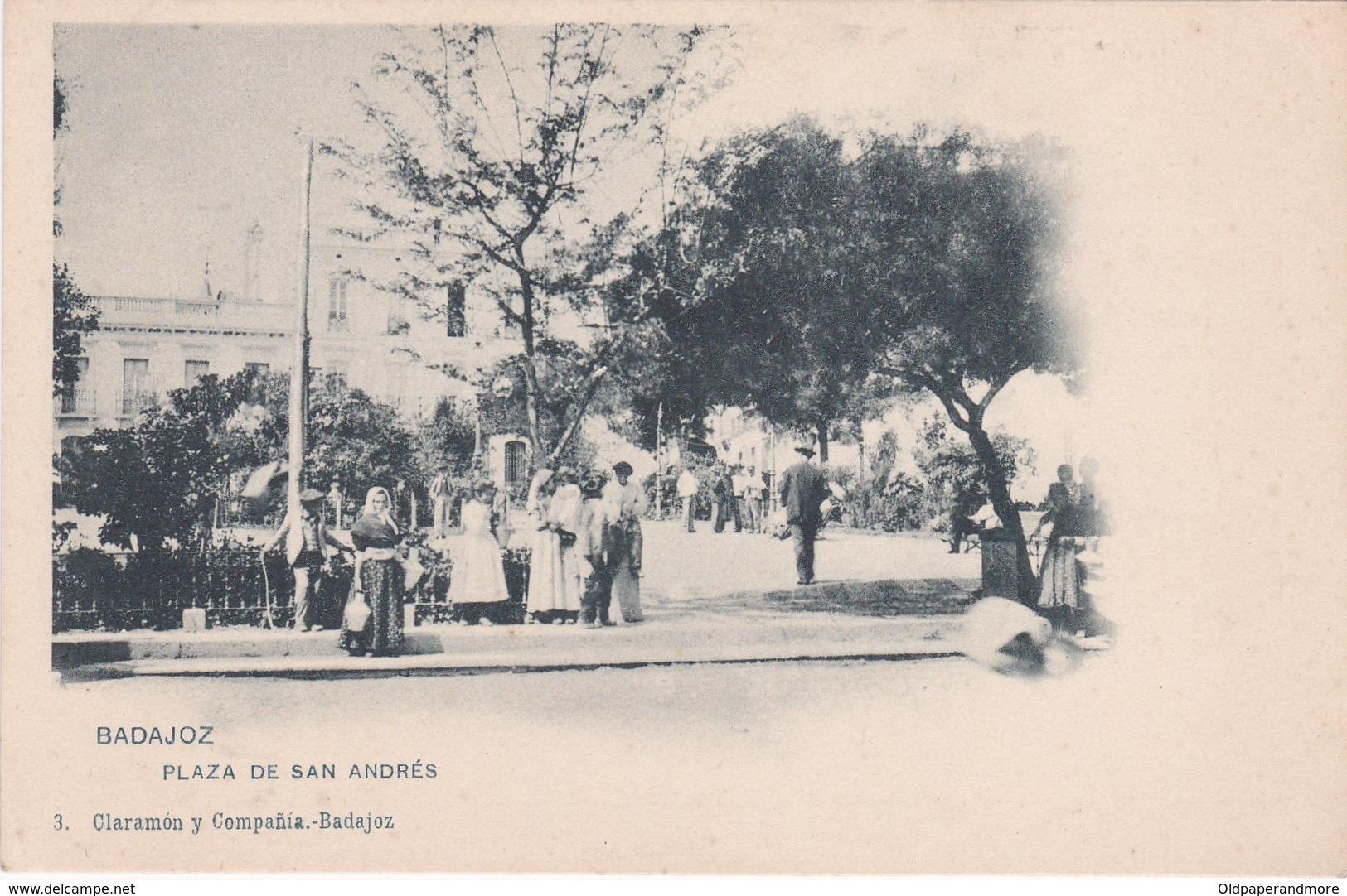 POSTCARD SPAIN ESPAÑA - BADAJOZ - PLAZA DE SAN ANDRÉS - Badajoz