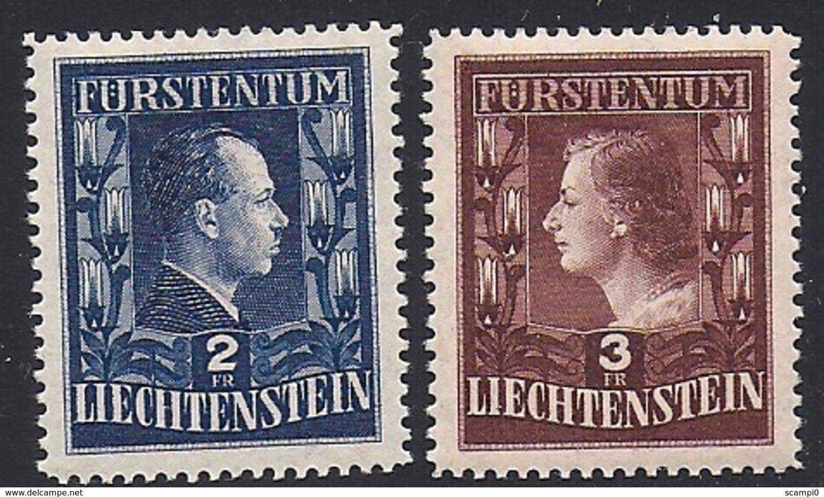17511....LIECHTENSTEIN No. 248A à 249A  ** - Liechtenstein