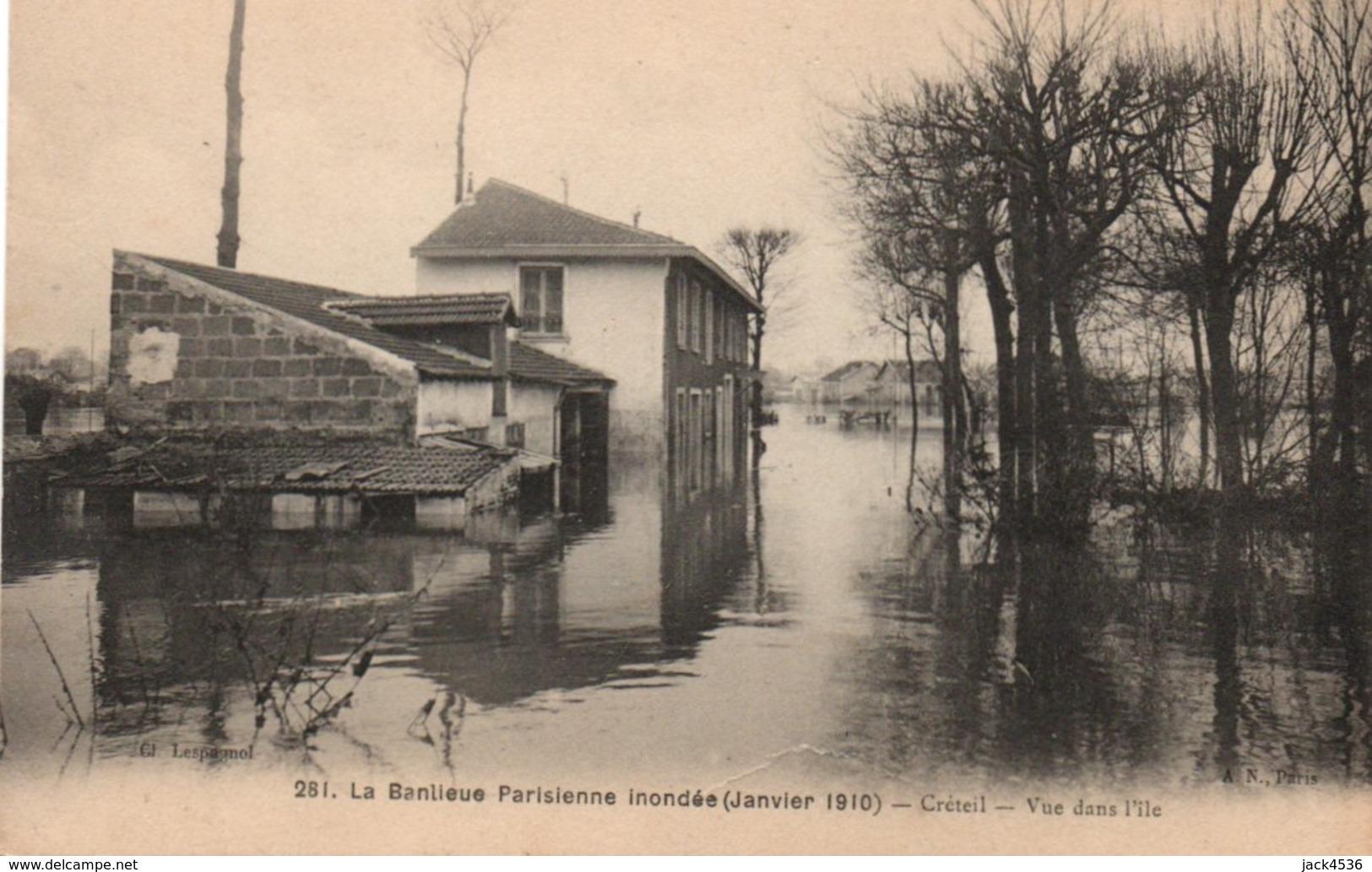 Carte Postale Ancienne - Non Circulé - Crue De La SEINE - Banlieue Parisienne - Traces Au Dos De Colle - Floods
