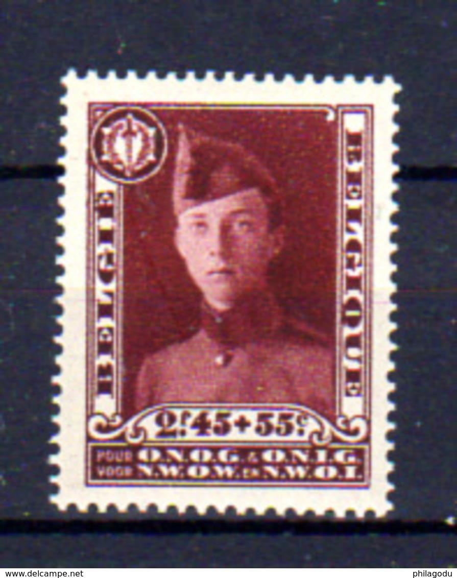 1931   Belgique,  Prince Léopold En Caporal, 325*, Cote 100 €, - Neufs