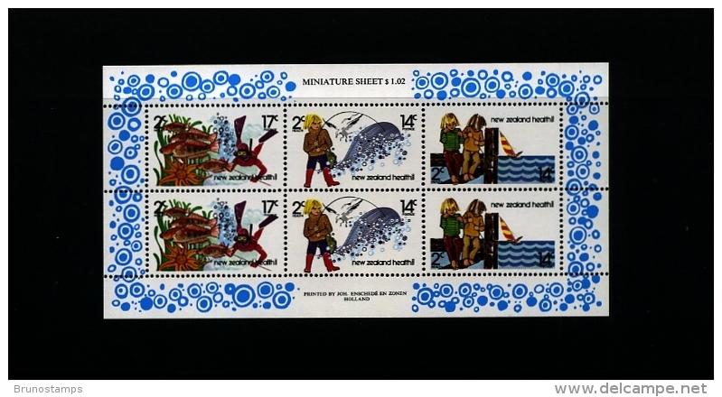 NEW ZEALAND - 1980  HEALTH  FISHING  MS   MINT NH - Blocchi & Foglietti