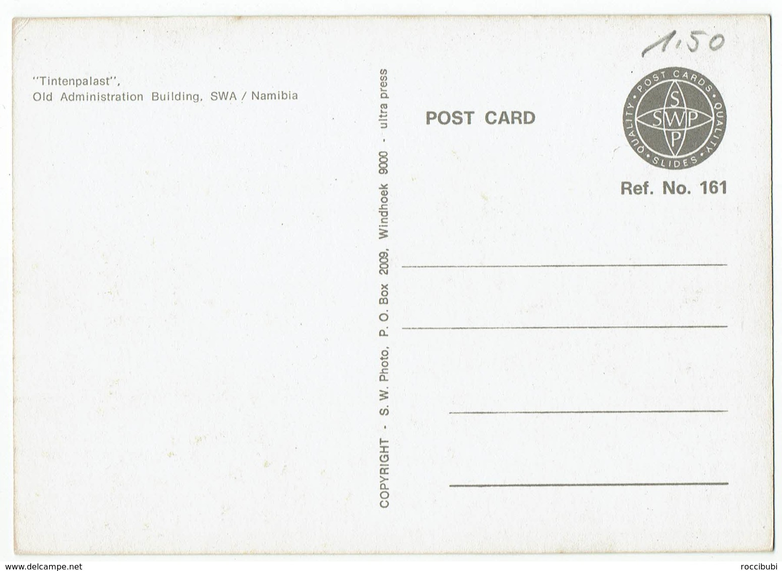 (032..899) Nambia, Windhoek S.W.A., Tintenpalast - Namibie