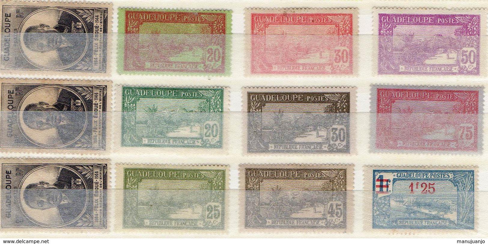 FRANCE ! Timbres Anciens NEUFS De GUADELOUPE Depuis 1905 - Guadeloupe (1884-1947)