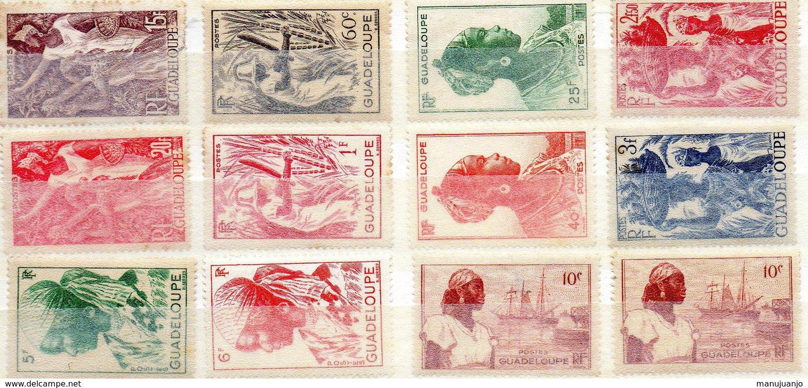 FRANCE ! Timbres Anciens NEUFS De GUADELOUPE Depuis 1945 - Guadeloupe (1884-1947)
