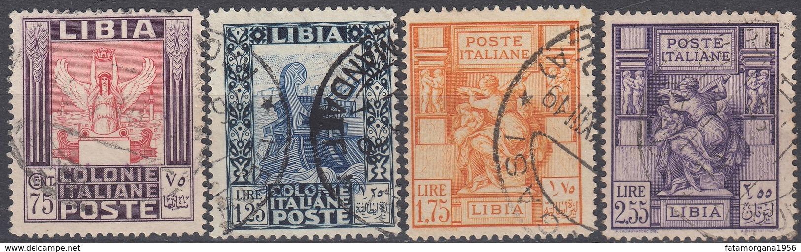 LIBIA (COLONIA ITALIANA)  - Lotto Di Quattro Valori Usati: Yvert 60/63, Come Da Immagine. - Libyen
