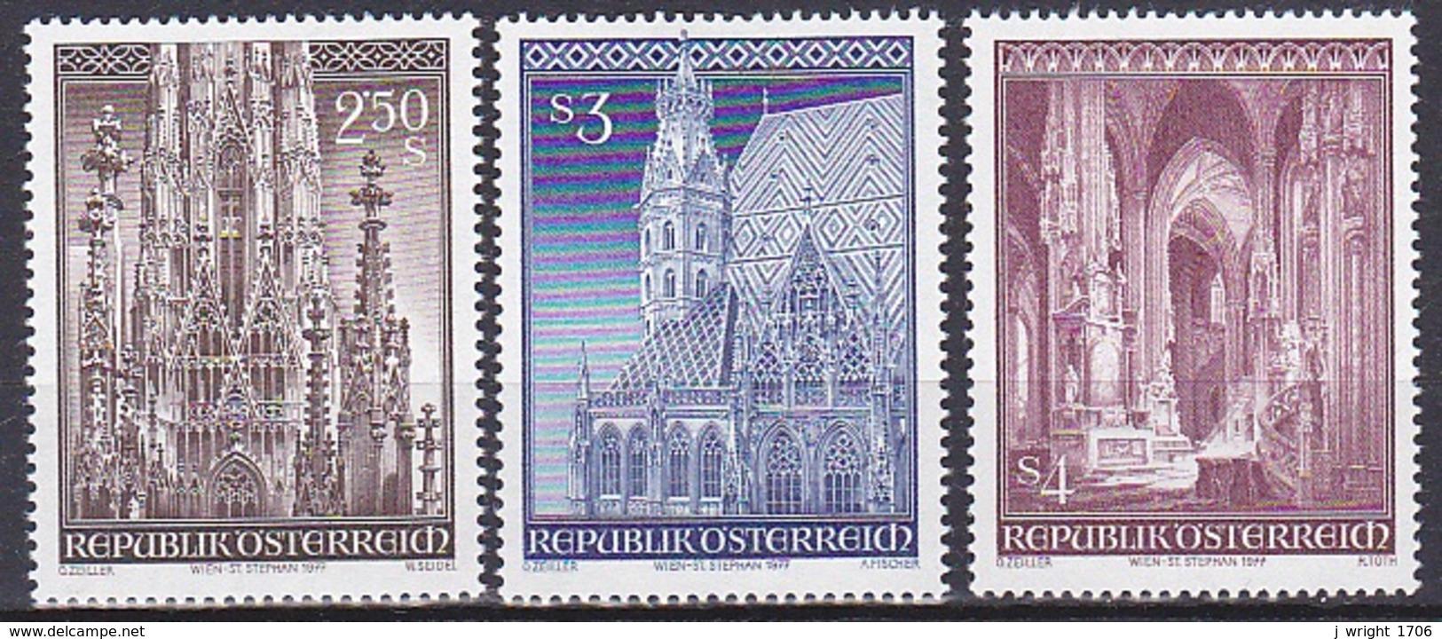 Austria/1977 - St. Stephens Cathedral/Stephensdoms - Set - MNH - 1945-.... 2nd Republic