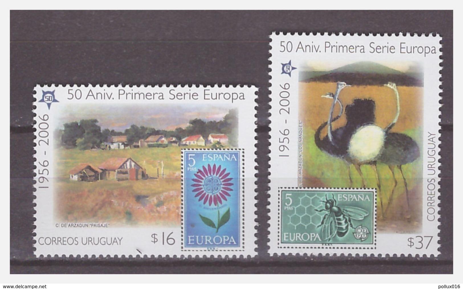 1034 Uruguay 2006 50 Year Europa Europe CEPT Honey-bee Ostrich MNH - Europa-CEPT