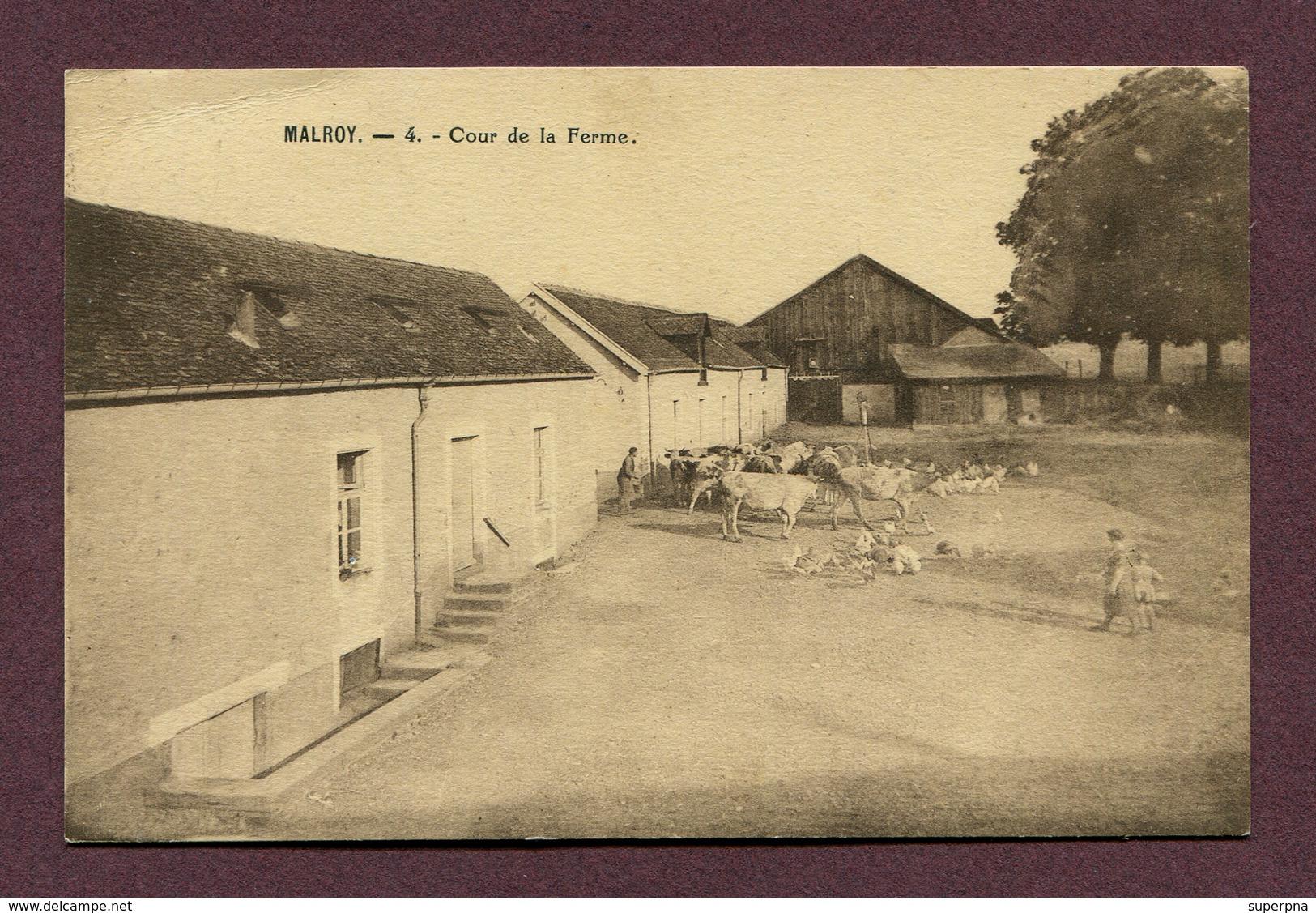 """MALROY  (52) : """" COUR DE LA FERME """" - Autres Communes"""
